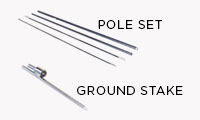 Pole + Ground Stake