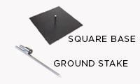 Pole + Square Base