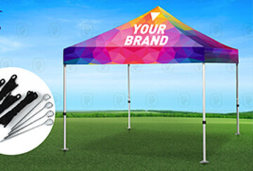 Large Format Printing Event Tents