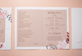 Wedding Programs Printing