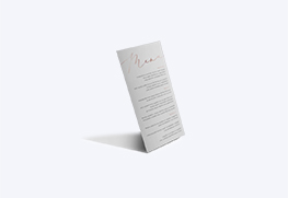 foil menus