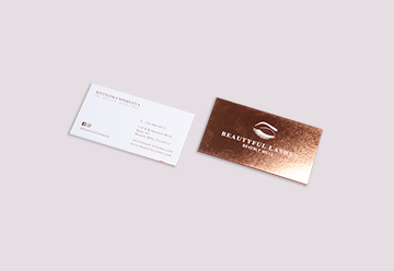 Foil Stamp Business Cards Printing
