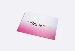 foil note cards