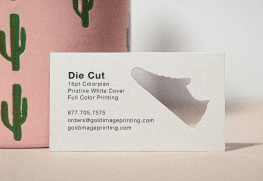 Custom Shape Die Cut Business Cards
