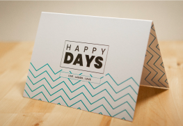 Raised Spot UV Greeting Cards Printing