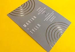 Custom Raised Digital Foil Invitation Printing