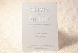 Embossed Wedding Invite