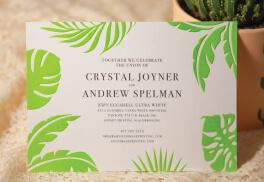 Pantone Wedding Invites