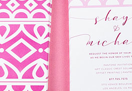 Pantone Wedding Invitation Printing