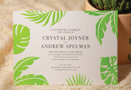 Custom Pantone Embossed Wedding Invite