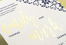Ultra Thick Wedding Invitations