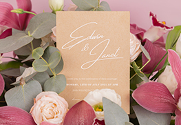 Custom White Ink Wedding Invitations