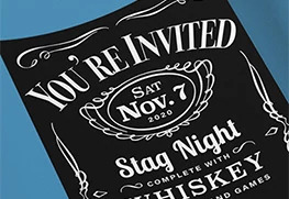 Bachelor Party Invitation Printing