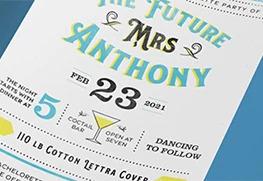 Bachelorette Party Invitation Printing