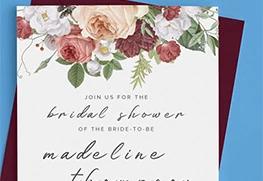 Custom Bridal Shower Invitation Printing