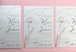 Shimmer Metallic Wedding Invitation Printing