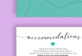 Wedding Accommodation Cards