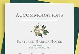 Accommodations Card Printing