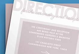 Custom Direction Card Printing