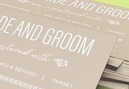 Wedding Registry Card Printing