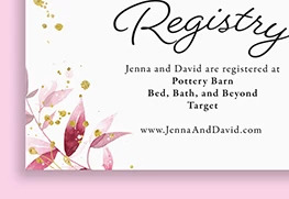 Wedding Registry Cards