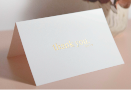 Foil Stamp Wedding Thank You Cards