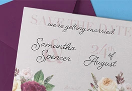 Custom Soft Touch Save the Date Cards