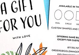 Custom Gift Tag Printing