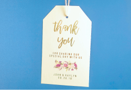 Gold Foil Hang Tags
