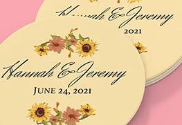 Wedding Coaster Printing