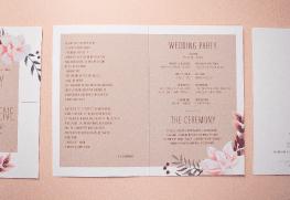 Wedding Program Printing