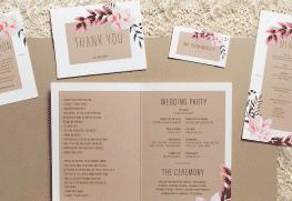 Custom Wedding Program and Wedding Suite