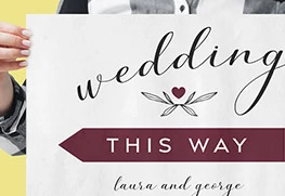 Wedding Direction Signs