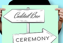 Custom Wedding Direction Sign Printing