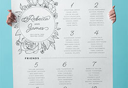 Custom Wedding Seating Sign Printing
