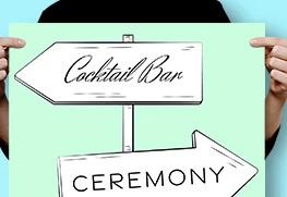 Custom Wedding Direction Signs