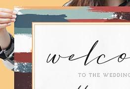Custom Wedding Welcome Sign Printing