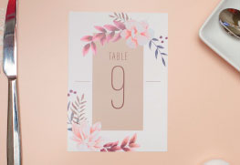 Table Numbers Printing