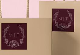Wedding Favor Gift Bag Labels