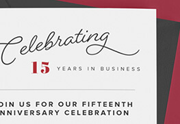 Business Anniversary Invitations Printing
