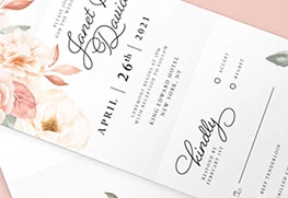 Custom All-in-One Wedding Invitation Printing