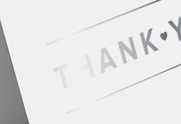 Silver Digital Foil Greeting Cards