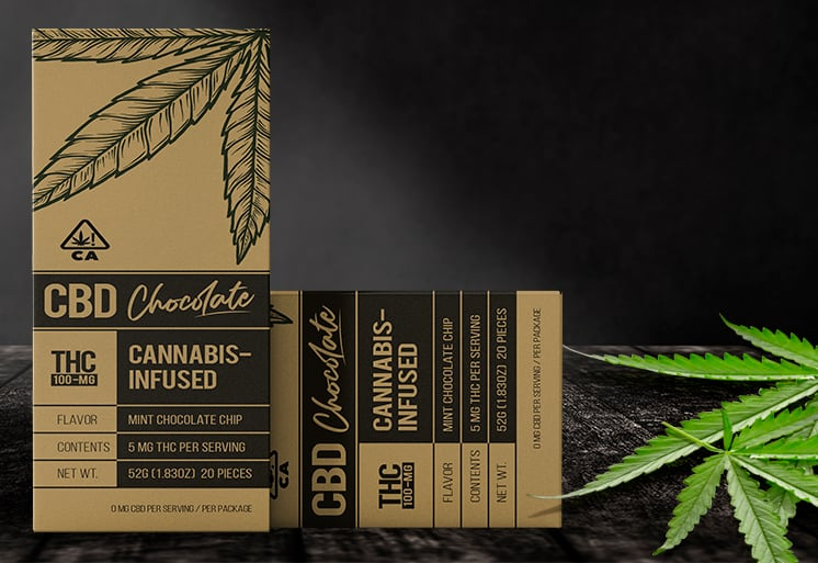 Marijuana Chocolate Bar Boxes