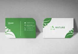 Custom Leaf Business Cards