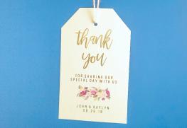 Foil Stamp Wedding Hang Tags