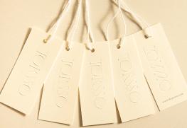 Custom letterpress hang tags