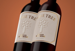 Custom Foil Embossed Wine labels