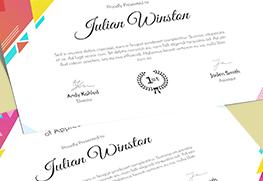Award Certificates D