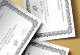 Award Certificates B
