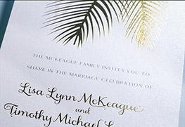 Custom Foil Wedding Invitation Printing